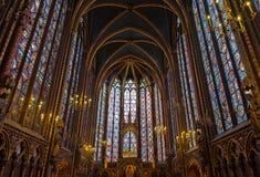 Interior of Sainte-Chapelle, Paris, france Stock Photography