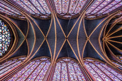 Interior of Sainte-Chapelle, Paris,France Royalty Free Stock Photography