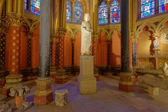 Interior of Sainte-Chapelle in Paris, France Royalty Free Stock Image
