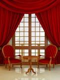 Interior - salón clásico del estilo stock de ilustración