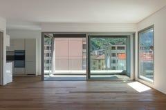 Interior, sala com balcão imagem de stock