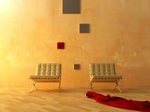 Interior - sala de espera moderna del estilo ilustración del vector