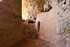 Interior of Salado Cliff Dwelling Stock Photography