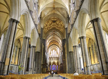 Interior Of Salisbury Cathedral Christianity Concept Stock Images