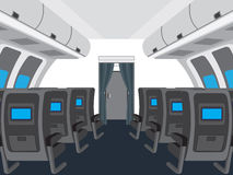 Interior of salon of the plane. Stock Photography