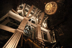 Interior in salt mines in Wieliczka Royalty Free Stock Images