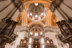 Interior of Salzburg Cathedral Church, located on a Domeplatz in old town area of the salzburg city Stock Image