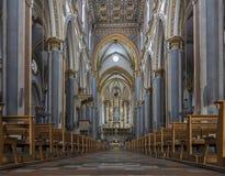 Interior of the San Domenico Maggiore in Naples, Italy Stock Photo