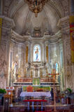 Interior San Giuseppe church, Taormina, Sicily Royalty Free Stock Photos