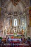 Interior San Giuseppe church, Taormina, Sicily royalty free stock photos