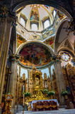 Interior of San Juan Bautista Parish in Coyoacan, Mexico. Royalty Free Stock Photography