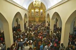 Interior of San Lazaro Catholic Church, El Rincon, Cuba, Stock Photo