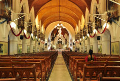 Interior of San Thome Basilica. In Chennai, India Royalty Free Stock Image