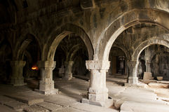 Interior of Sanahin monastery, Armenia Royalty Free Stock Photography