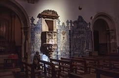 Interior of the Santa Cruz Monastery Stock Images