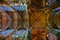 Interior of the Santa Maria de Leon Cathedral, Spain Royalty Free Stock Photos
