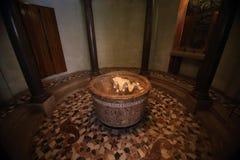Interior of Santa Maria de Montserrat Abbey, Barcelona, Spain Royalty Free Stock Photography
