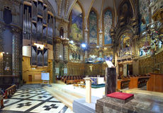 Interior of  Santa Maria de Montserrat church Stock Photo