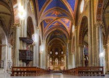 Interior of Santa Maria Sopra Minerva Stock Image