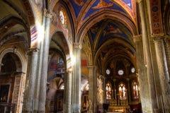Interior of Santa Maria Sopra Minerva Stock Images
