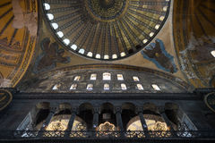 Interior of Santa Sofia in Istanbul Royalty Free Stock Image