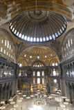Interior of the Santa Sofia Mosque. Istanbul, Turkey Royalty Free Stock Image
