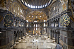 Interior of the Santa Sofia Mosque. Istanbul, Turkey Royalty Free Stock Photography