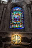 Interior of Santiago de Compostela cathedral Stock Image