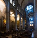 Interior of Santiago de Compostela Cathedral. Galicia, Spain Stock Photo