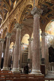 Interior of Santissima Annunziata del Vastato, Catholic church i Stock Photo