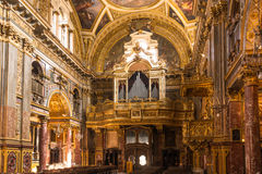 The interior of the Santissimi Martiri Church, Turin. Turin,Italy,Europe - April 24, 2015 : The Baroque  interior of the Santissimi Martiri Avventore, Ottavio e Stock Image