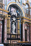 The interior of the Santissimi Solutore Avventore Ottaviano Church in Turin. Turin,Italy,Europe - April 24, 2015 : The statue in the  interior of the Santissimi Royalty Free Stock Photos