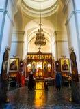 Interior santo de la catedral de la resurrección de Barysaw fotos de archivo