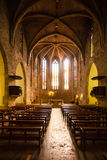 Interior of  Sants Maria del Turers church at Banyoles Royalty Free Stock Images