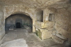 Interior of a Sasso in Matera, Italy Royalty Free Stock Image