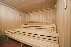 Interior of a sauna Royalty Free Stock Photo