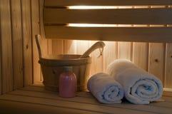 interior sauna 免版税库存图片