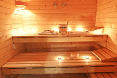 Interior sauna Stock Photo
