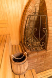 Interior of a sauna Royalty Free Stock Images