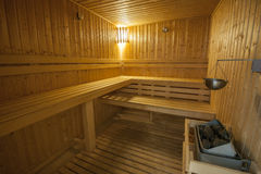 Interior of sauna in health spa Stock Image