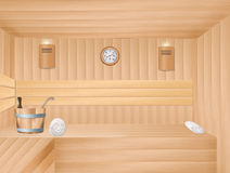 Interior of sauna Royalty Free Stock Photography