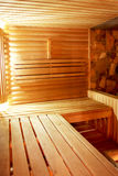 The interior of the sauna in a retro style Royalty Free Stock Photo