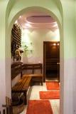 Interior in sauna room Stock Photo