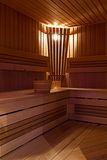 Interior of sauna Royalty Free Stock Photo