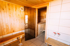 Interior Of The Sauna Royalty Free Stock Photography