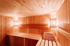 Interior Of The Sauna Royalty Free Stock Image