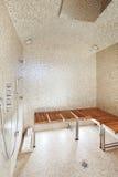 Interior sauna, shower Stock Image