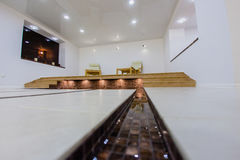 Interior of sauna with a swimming pool. And a place to relax Royalty Free Stock Photography