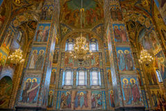 Interior of Savior on the Spilled Blood Cathedral in St. Petersb Stock Photography