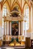 Interior saxon church copsa mare transylvania Royalty Free Stock Photos